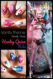 harley quinn squad nails nail design nail art nail salon