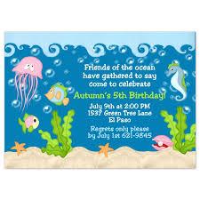 under the sea birthday party invitations under the sea birthday