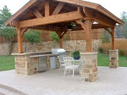 outdoor kitchen roof ideas covered outdoor living spaces standalone shingled roof structure