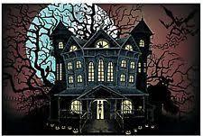 9ft haunted graveyard cemetery wall mural halloween scene setter