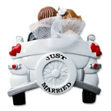 just a car for the just married car wedding ornament 235 or1212