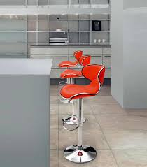 Bar Stool With Cushion Furniture Cool Furniture For Kitchen Decoration Using Round Light