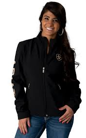ariat women u0027s black team softshell jacket cavender u0027s clothing