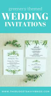 wedding invitations greenery themed wedding invitations from etsy the budget savvy