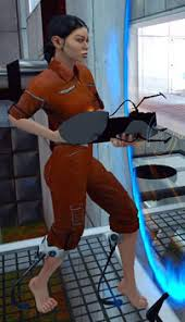 portal jumpsuit chell character bomb