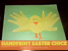 Easter Decorations With Construction Paper by Handprint Easter Preschool Craft
