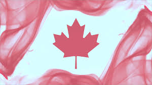 Flag Za Canadian Flag Formed With Red Smoke On White Background Canada