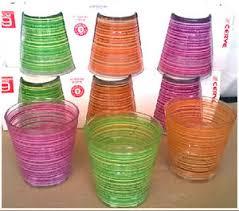 bicchieri cerve 12 bicchieri colorati cerve svasati 25 cl decoro righe