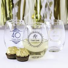 wine glass party favor top 20 40th birthday party favors beau coup