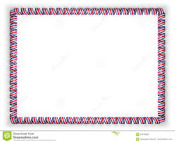 Costarica Flag Frame And Border Of Ribbon With The Costa Rica Flag 3d
