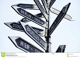 Europe Capitals Map by Europe Capitals Signpost Stock Photo Image 51477980