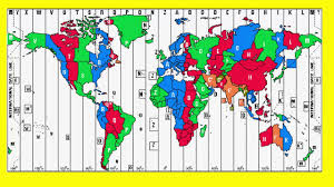 Time Zones Map North America by Utc Time Zone Youtube