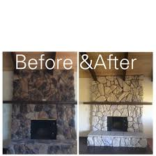 here u0027s an inexpensive way to update an ugly rock fireplace from