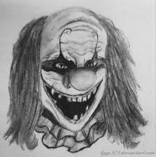 evil clown drawing dessin clown by lyyy971 on deviantart