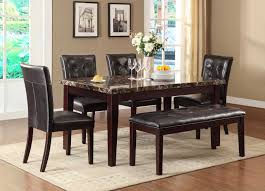 Blue Dining Set by Homelegance Teague Faux Marble Dining Set Espresso D2544 64