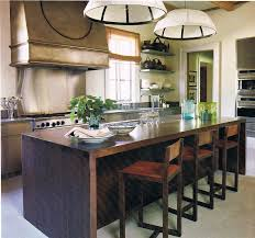 furniture kitchen island dark brown wood color and long designs