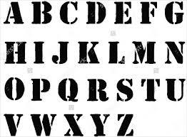 printable alphabet stencils 9 printable letter stencils free sle exle format download