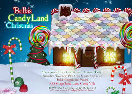 Christmas Invitation Cards Candy Land Christmas Ginger Bread House Card Christmas Party