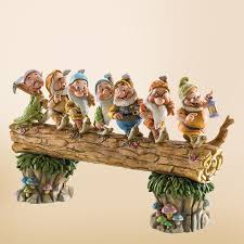 jim shore disney seven dwarfs on log department 56 corner