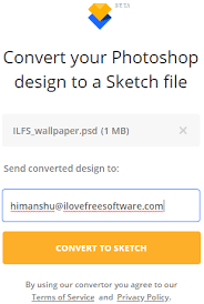 free online psd to sketch file converter