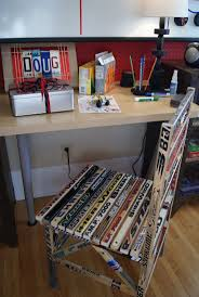 92 best hockey beds images on pinterest hockey stuff ice hockey i have seen hockey stick chair before this actually looks pretty nice in this room previous pinner
