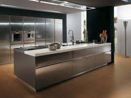 stainless kitchen island contemporary stainless steel kitchen cabinets kitchentoday