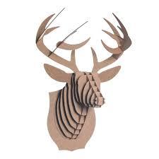 deer head bucky cardboard deer head cardboard safari