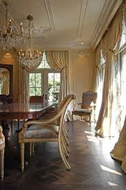 188 best drapes and curtains images on pinterest curtains elegant dinning room with high pulled back drapes and chandelier s i love the windows