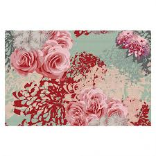 Rose Area Rug Unique Area Rugs Zara Martina Mint Blush Dianoche Designs