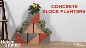 Monogram Planter Color Block Concrete Planters Youtube
