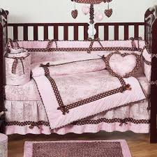 Brown And Pink Crib Bedding Baby Nursery Entrancing Pink Baby Nursery Room Design With