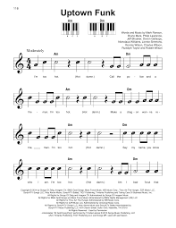 Count On Me Bruno Mars Piano Pdf Uptown Funk Feat Bruno Mars Sheet By Ronson
