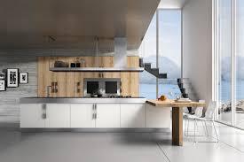 cuisine contemporaine blanche et bois cuisine blanche et bois