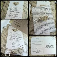 rustic wedding invitation lyrical love collection song