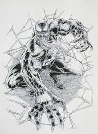 venom sketch by max dunbar on deviantart marvel comics