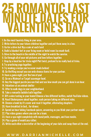25 last minute date ideas for s day