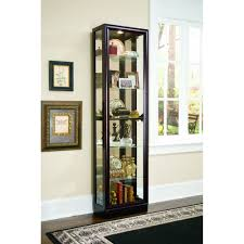 Wall Mounted Cabinet With Glass Doors Cabinet Lighting Elegant Glass Curio Cabinets With Lights Design