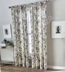 peri home yellow gray jacobean floral window curtain panels 50x96 pair