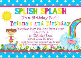kids birthday invitation wording ideas invitations templates