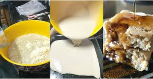 how to make cake how to make breakfast cake from pancake mix