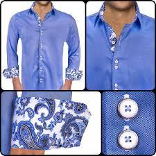 blue and white paisley dress shirts