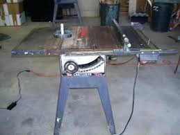 10 Craftsman Table Saw Sears Table Saws Front View Of The Craftsman Table Saw Photo