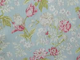 Duck Egg Blue Floral Curtains Campagna Duck Egg 100 Cotton Fabric Curtains Upholstery