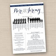 wedding day program wedding ceremony program poster silhouette designsbydvb