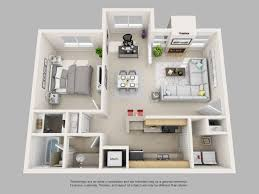 1bed room 3d home plan latest gallery photo