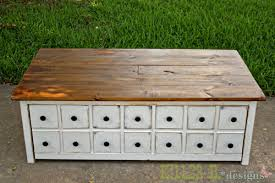 Build A Toy Box Bench by Ana White Apothecary Coffee Table With Toybox Trundle Diy Projects