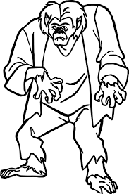 creature scooby doo coloring wecoloringpage