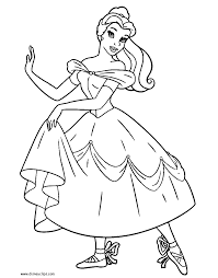 Beauty And The Beast Coloring Pages Disney Coloring Book Ballerina Printable Coloring Pages