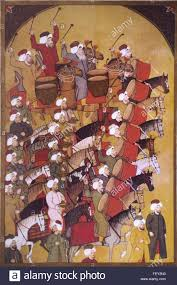 Ottoman Janissary Ottoman Janissary Or Turkish Army Band As Shown In Early Miniature