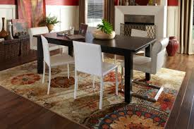 square glass dining table with silver legs combined white room